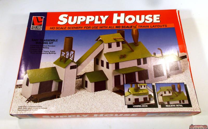 Life like ho supply house mill building structure kit 1398 for Complete home building kits